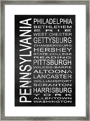 Subway Pennsylvania State 1 Framed Print by Melissa Smith