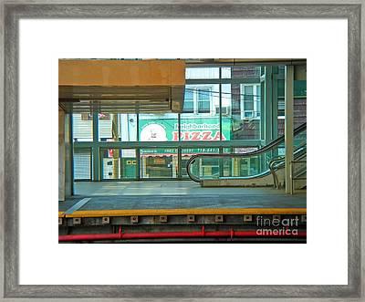 Subway Pizza Framed Print