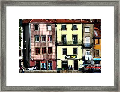 Subway - Porto Framed Print