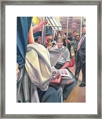 Subway Prelude Framed Print by Julie Orsini Shakher