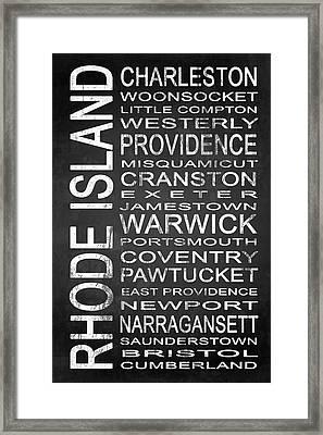 Subway Rhode Island State 1 Framed Print