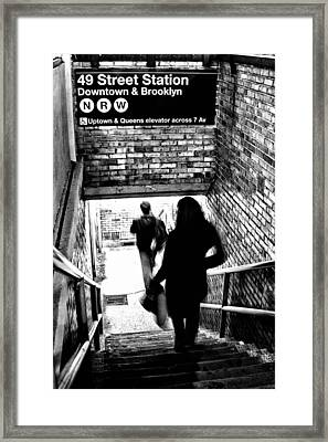 Subway Shadows Framed Print