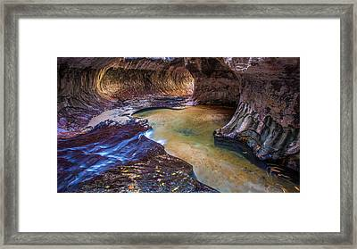 Subway Slot Canyon Framed Print by Pierre Leclerc Photography