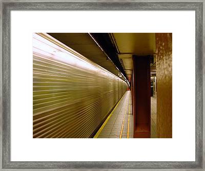 Subway Speed Framed Print
