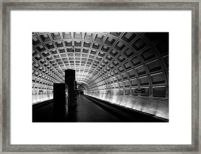 Subway Station Framed Print