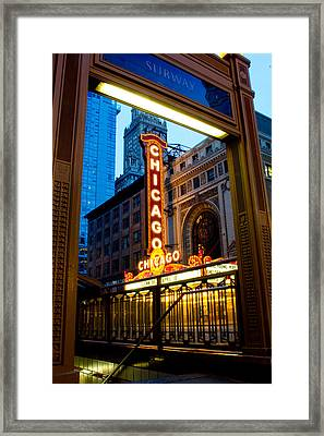 Subway Station In Chicago Framed Print by John McGraw