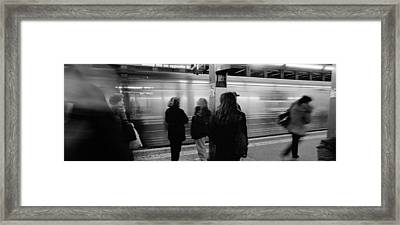 Subway, Station, Nyc, New York City Framed Print by Panoramic Images