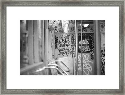 Framed Print featuring the photograph Subway by Steven Macanka