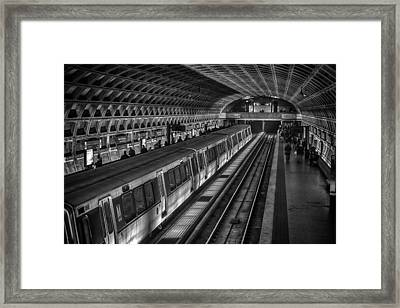 Subway Train Framed Print by Lynn Palmer