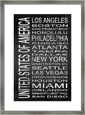 Subway United States 1 Framed Print by Melissa Smith