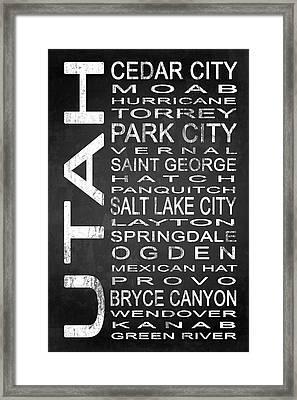 Subway Utah State 1 Framed Print by Melissa Smith