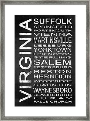 Subway Virginia State 2 Framed Print