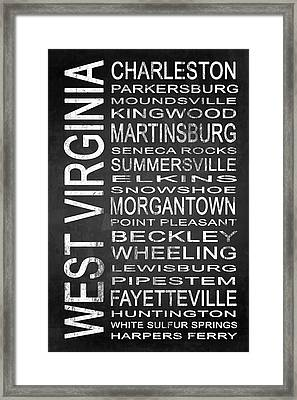 Subway West Virginia State 1 Framed Print by Melissa Smith