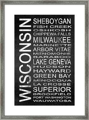 Subway Wisconsin State 2 Framed Print by Melissa Smith