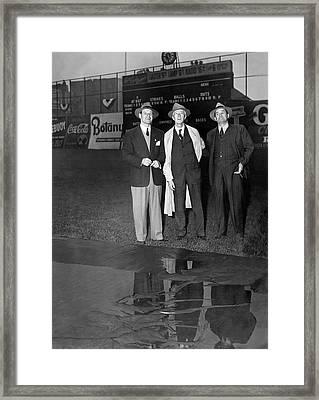 Subway World Series Rain Framed Print by Underwood Archives