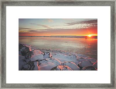 Subzero Sunrise Framed Print by Carrie Ann Grippo-Pike
