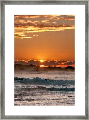 Subzero Sunrise Framed Print