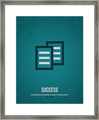 Success Framed Print by Aged Pixel