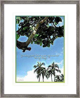 Success And Failure Botanical Inspiration Framed Print by Joan  Minchak