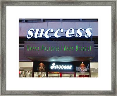 Success Framed Print by Andy Za
