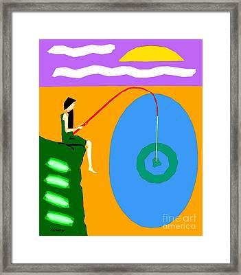 Success At Last Framed Print by Patrick J Murphy