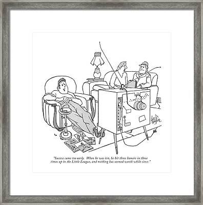 Success Came Too Early.  When He Was Ten Framed Print by George Price