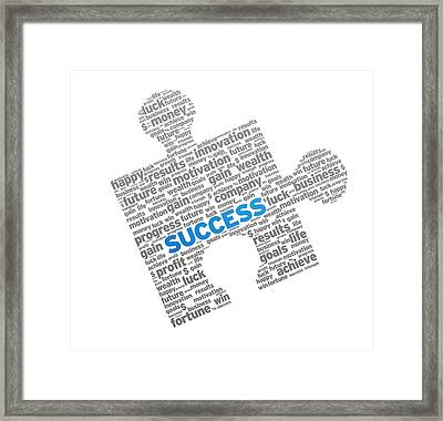 Success Puzzle Framed Print by Aged Pixel