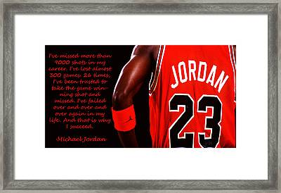 Success Quote 1 Framed Print