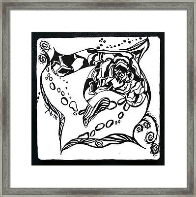 Succulent Stream Of Consciousness Framed Print by Beverley Harper Tinsley