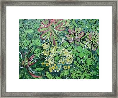 Succulents At Alcatraz Framed Print by Jamie Scott