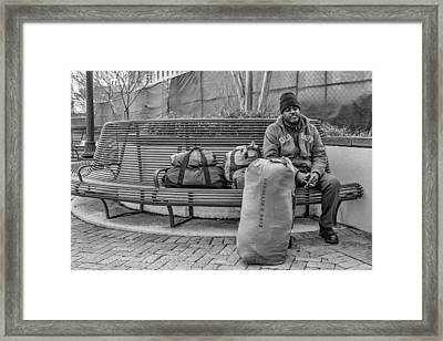 Such A Long Journey Bw Framed Print