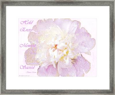 Such A Pretty Peony - Inspirational Quote Framed Print