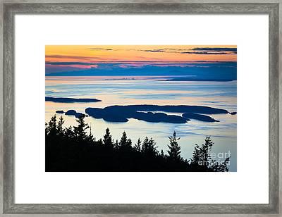 Sucia Island Framed Print by Inge Johnsson