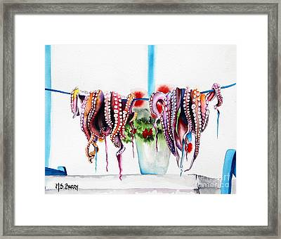 Suckers Framed Print by Maria Barry