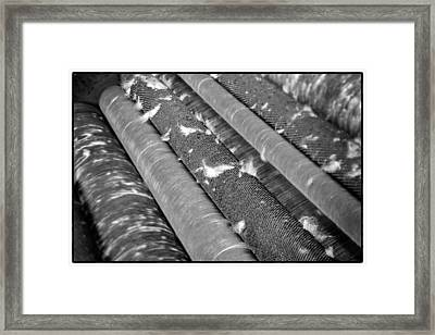Sucre Hat Factory Rolls Select Focus Framed Print by For Ninety One Days