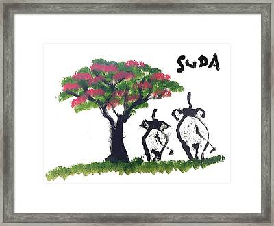 Suda Pink Version Framed Print by Colin Smeaton