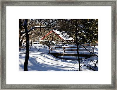 Sudbury - Grist Mill In The Woods Framed Print by Mark Valentine