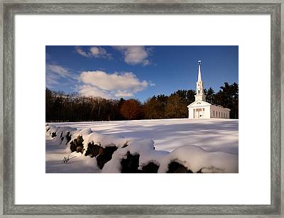 Sudbury Martha-mary Chapel Winter Covering Framed Print by Mark Valentine