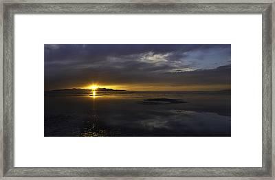 Sudden Glow Framed Print