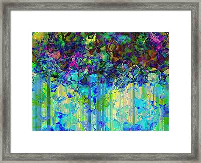 Sudden Rain And My Blues Framed Print by Wendy J St Christopher