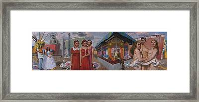 Sudenly It Was All Reveled To The Abreu Sisters Framed Print by Alfredo Arcia
