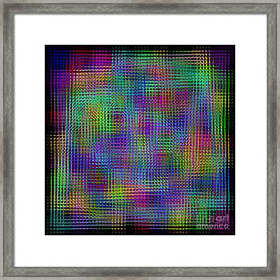 Sudoku Connections Glass Mosaic Framed Print