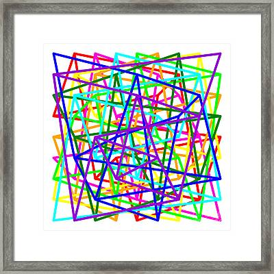 Sudoku Connections On White Framed Print