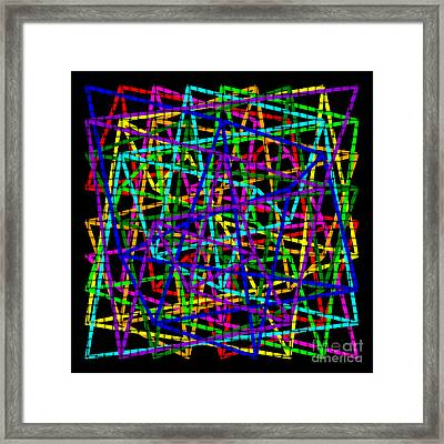 Sudoku Connections Weave Framed Print