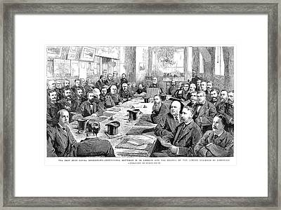 Suez Canal Conference Framed Print by Granger