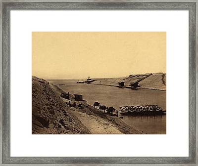 Suez Canal, Egypt, 19th Century Framed Print by Science Photo Library