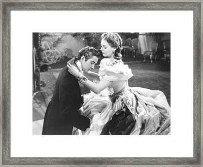 Suez, From Left Tyrone Power, Loretta Framed Print