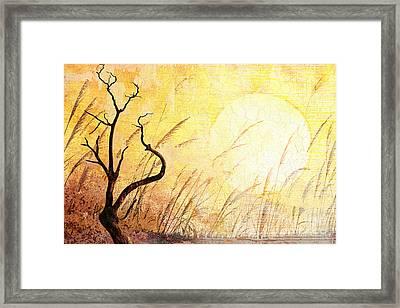 Suffering Framed Print by Bedros Awak