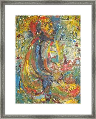 Suffering Framed Print by Esther Newman-Cohen