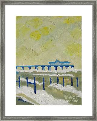 Suffolk Southwold Pier Framed Print by Lesley Giles